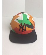 New Era 9Fifty MLB NY Yankees Black Multi Color Camo Original Fit Hat READ - $14.89