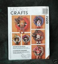 """McCall's #7229  """"Seasons of the Wreath""""  Crafts - $4.95"""