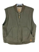 Iron Max Sherpa Lined Canvas Duck Vest Mens Size XL Green (hg) - $28.46