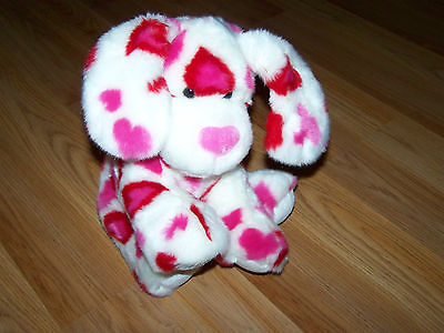 Primary image for Build a Bear Workshope BABW Red & Pink Heart Valentine's Day Plush Puppy Dog