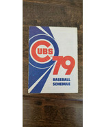 1979 OLD STYLE CHICAGO CUBS HOME AND AWAY BASEBALL POCKET SCHEDULE SKED  - $7.99