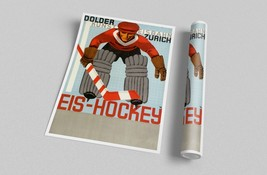 Eis - Hockey Vintage Ad Art Canvas Wall Art - $39.55