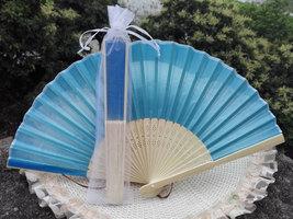20Pcs/Lot 21cm Party Wedding Favors Gifts Blue Wedding Bridal Silk Hand ... - $32.99