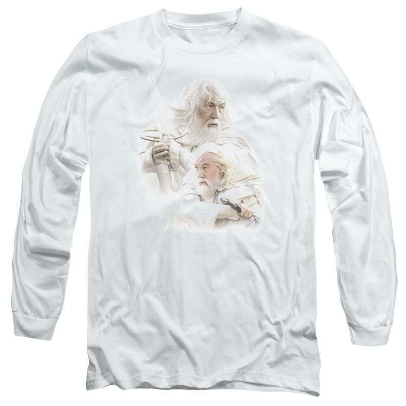 The Lord of the Rings Gandalf The White Wizard long sleeve t-shirt LOR3007