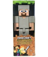 Mojang Mattel Minecraft Steve In Iron Armor Game Authentic Articulation ... - $21.99