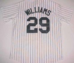 Woody Williams 29 Houston Astros MLB 2007 Scripted White Black Striped Jersey L - $79.19
