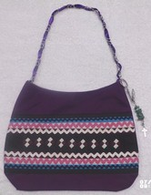 Native American Patchwork Ladie's Bag Purse Purple Handmade Seminole w/ ... - $59.99
