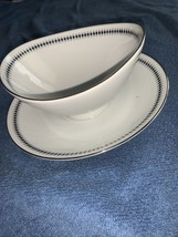Mikasa STARLIGHT Gravy Boat w/Attached underplate 5560 Pre-Owned GREAT C... - $12.90