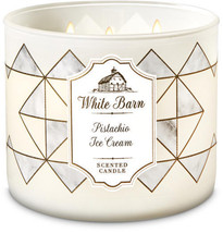 ☆☆PISTACHIO ICE CREAM☆ BATH & BODY WORKS 3 WICK CANDLE JAR☆ FREE FAST SH... - $23.26