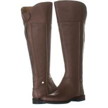 Franco Sarto Christine Wide Calf Riding Boots 719, Taupe Leather, 6 US / 36 EU - $38.39
