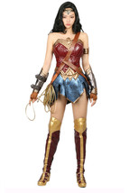 Wonder Woman Costume Super Costume for Halloween Cosplay Fancy Dress Red... - $209.52 CAD