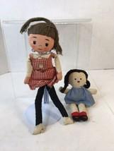 Vtg Dakin Dream Doll-Smiles and tears-2-sided doll by Dakin + Small Rag doll - $19.99