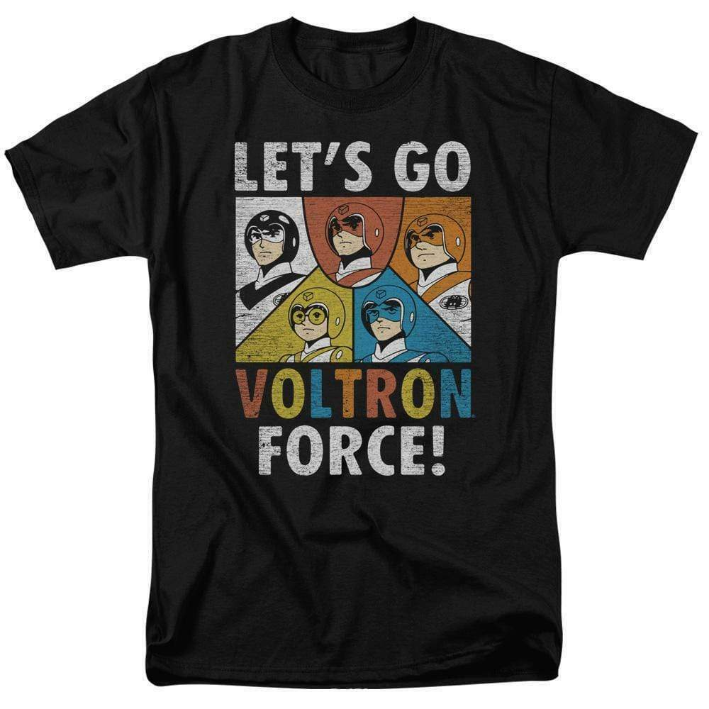 Voltron t-shirt Let's Go Voltron Force retro animation graphic tee DRM115B