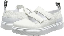 Doc Martens MAE Mary Jane Double Strap White Leather Air Wair Shoes Wms11 NEW - $89.99