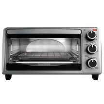 BLACK+DECKER 4-Slice Toaster Oven, Stainless Steel, TO1303SB - $46.03