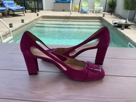 Franco Sarto Women's Size 9.5 M L-Thrive Magenta Pink  Slip -On Leather ... - $28.00