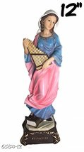 "Alliance 12"" Inch Saint Cecilia St Statue Estatua Catholic Figurine Figure Ceci  - $31.00"