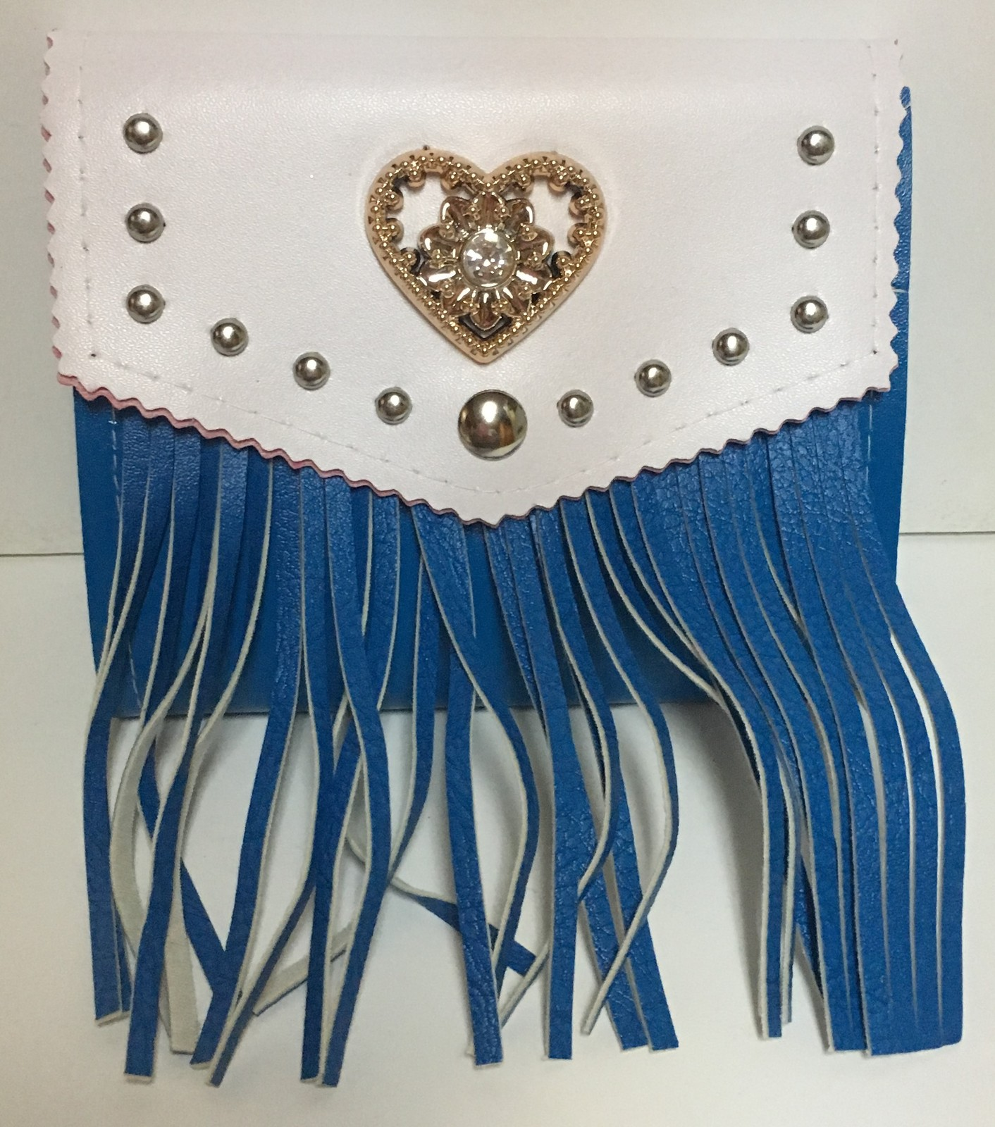 Western Faux Leather Fringe Purse Cross Body Choose Color Black Blue NWT