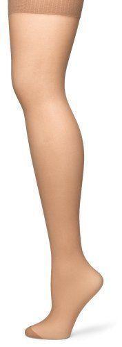 No Nonsense Women'S  Reinforced Toe Pantyhose, Tan, Plus 2