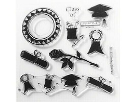 """Close to My Heart """"Sterling Scholar"""" Clear Cling Acrylic Stamp Set #B1133"""