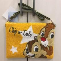 Disney Chip & Dale Saga Embroidery Shoulder Bag Pouch Pochette Case - $54.45