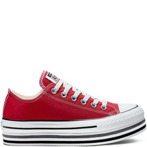 Converse Chuck Taylor AS Platform Layer Low Lift Ox, 563972C Multi Sizes Red/W/B - $109.95