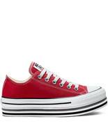 Converse Chuck Taylor AS Platform Layer Low Lift Ox, 563972C Multi Sizes Red/W/B - £88.28 GBP