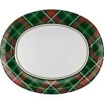 Tartan Tidings 8 Piece Oval Paper Platters                                  - £4.90 GBP