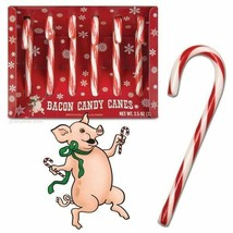 Bacon Candy Canes 3.8 Ounces 6 Pack Archie McPhee 12192 - $11.88