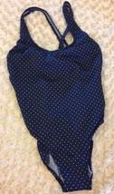 Calvin Klein Swimsuit 8 One Piece Navy Polka Dot  - $19.99