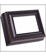 Black Distressed Rectangular Little Treasures Box cross stitch box  - $22.00
