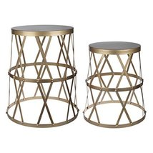 A&B Home KIF40680 Gold Urban Vogue Accent Table (Set of 2) - $158.39