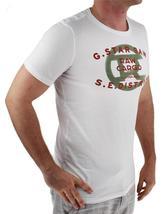 NEW NWT G-STAR RAW MEN'S PREMIUM ORDER LOGO COTTON GRAPHIC T-SHIRT TEE MILK image 3