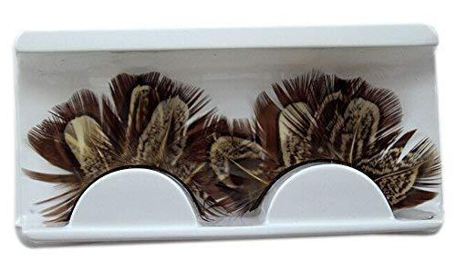 Creative Stage Performances Exaggerated Brown Feather False Eyelashes 5 Pairs