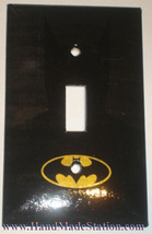 Batman Logo Light Switch Duplex Power Outlet Wall Cover Plate & more Home decor image 1