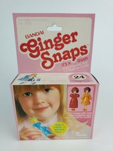 "Vintage 1981 Bandai Ginger Snaps #24 snap-together doll 3"" New in Pink Box - $23.36"