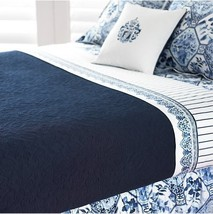 "Ralph Lauren ""Palm Harbor"" Quilt King Blue Quilted 100%COTTON Embroidered New - $1,465.80"