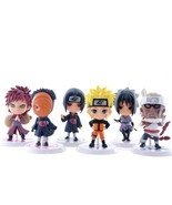 6pcs Naruto Sasuke Collectible Action Figures Car Decoration Toys - £17.57 GBP