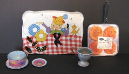 Vintage Toy Dishes Lot Humpty Dumpty Griddle Mirror Griddle - $48.00