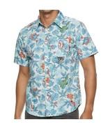Marvel Avengers Superhero Hawaiian Tropical Luau Button Front Shirt Mens... - $46.74