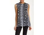 NWT $890 Silk Designer Proenza Schouler Blouse Top 6 Womens New Black White Pyth - $9.923,00 MXN