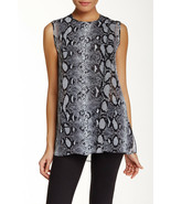 NWT $890 Silk Designer Proenza Schouler Blouse Top 6 Womens New Black Wh... - $534.00