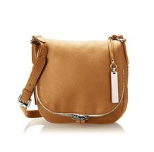 Vince Camuto Baily Crossbody Chestnut Brown Adjustable Strap Leather Lad... - $179.00