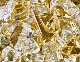 "10 Lbs of Fire Glass 1/2"" Gold Strike Reflective Fireglass for Fireplace - $39.11"