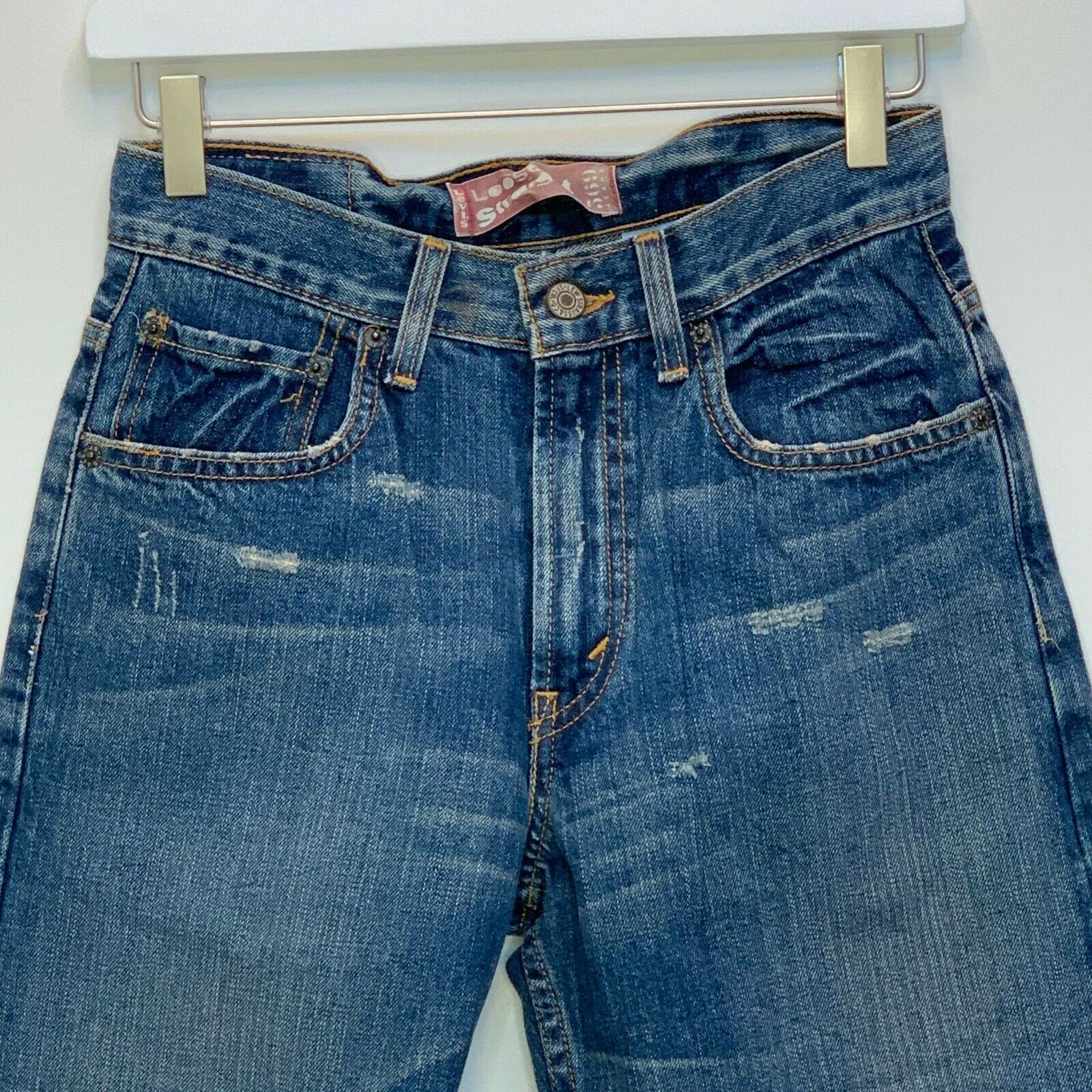 Primary image for Levi's 569 Boys Loose Straight Fit Blue Jeans Size 14
