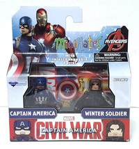 Minimates Marvel Avengers Civil War Captain America Winter Soldier Mini ... - $14.99