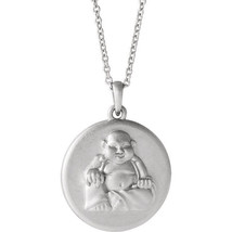 "Buddha 16-18"" Necklace In Sterling Silver - $70.29"