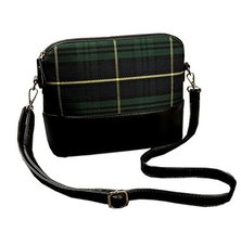 Vintage Scoland Green Plaid Small Cross-body Bag