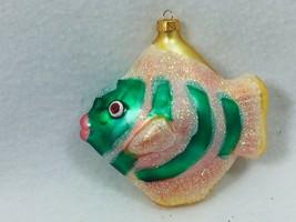 Tropical Fish Glass Christmas Ornament Green 25400 - $14.84