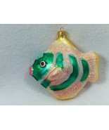 Tropical Fish Glass Christmas Ornament Green 25400 - $14.84